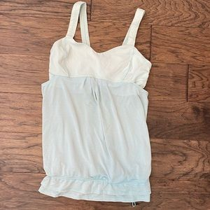 Size 8 Lululemon Aquamarine Run Back on Track Tank